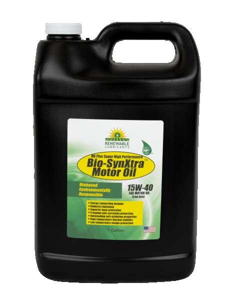 85353 Bio Syn Xtra HD Plus SHP Motor Oil SAE 15 W40 Low Ash 1 Gal